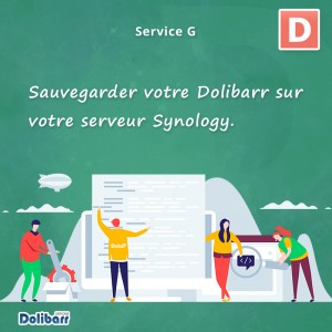 Servizio: eseguire il backup di Dolibarr sul server Synology.